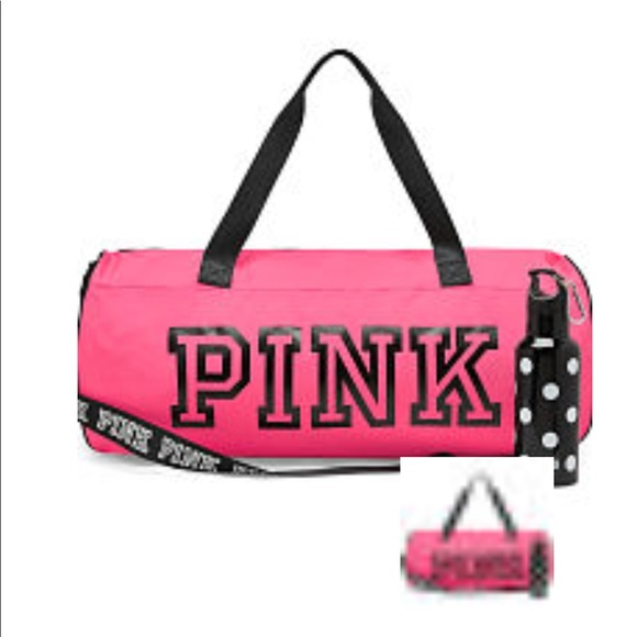 2a5ceca2a1f PINK Victoria s Secret Bags   Nwt Pink On Fleek Duffle Bag And Water ...